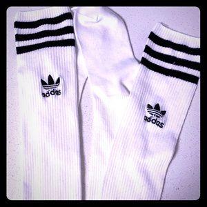 Adidas thigh high socks, never worn